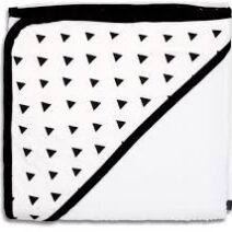 ps black:white triangles hooded towel