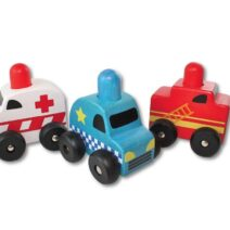Discoveroo Squeaker Emergency Cars (Set of 3 cars)
