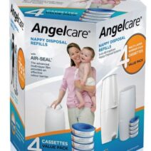 ANGELCARE BABY NAPPY DISPOSAL REFILL CASSETTES (4 PACK)
