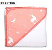 ps woodlands coral hoode towel
