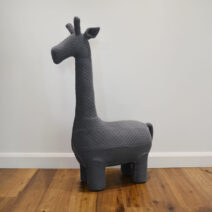 giraffe chair large gunmetal grey