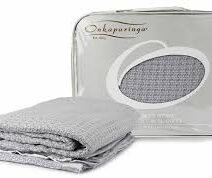 ONKAPARINGA MOSS WEAVE BLANKET – COT silver
