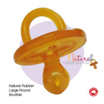 NATURAL RUBBER SOOTHER ROUND SMALL (0-3mths) TWIN PACK