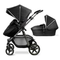 SILVERCROSS PIONEER with CARRYCOT BLACK