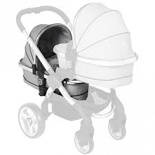 ICANDY PEACH TWIN CARRY COT -GREY